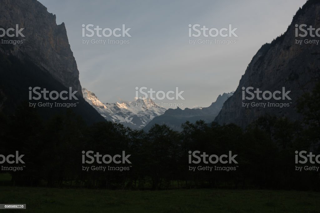 Kleine Scheidegg Jungfrauregion stock photo