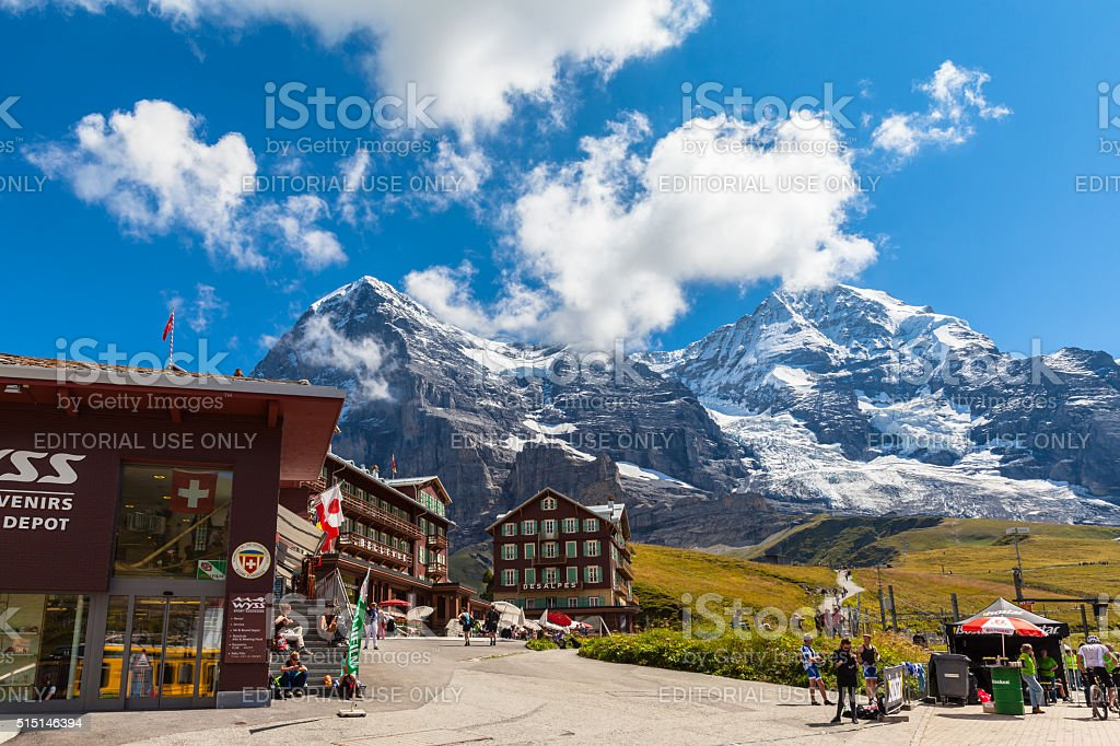 Kleine Scheidegg stock photo