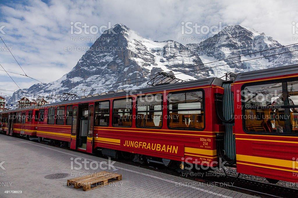 Kleine Scheidegg Railway Station royalty-free stock photo