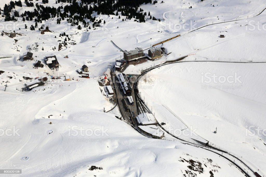 Kleine Scheidegg Switzerland Alps winter sports skiing mountains...