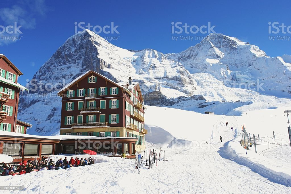 Kleine Scheidegg, Switzerland stock photo