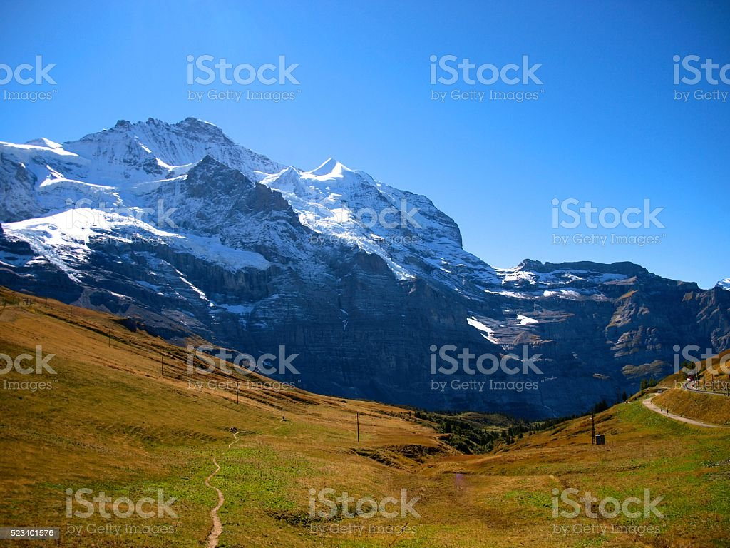 Kleine Scheidegg/Grindelwald,Switzerland stock photo