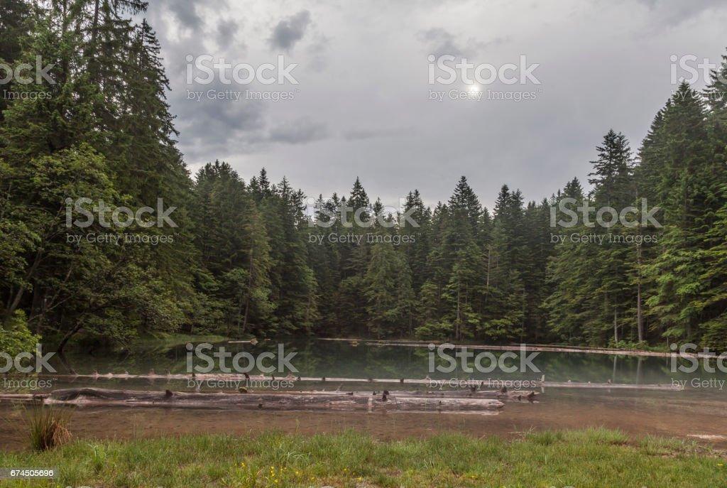 Kleiner Bergsee stock photo
