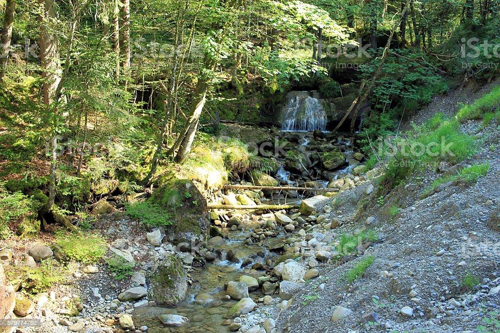 kleiner Wasserfall stock photo