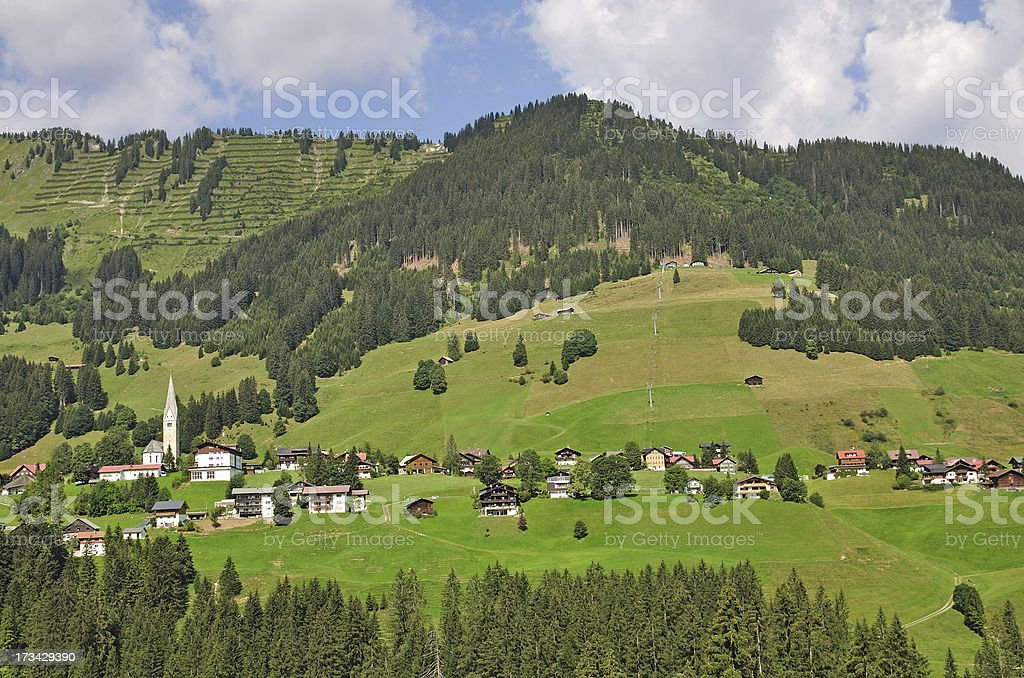 Kleinwalsertal,Hirschegg,Austria stock photo