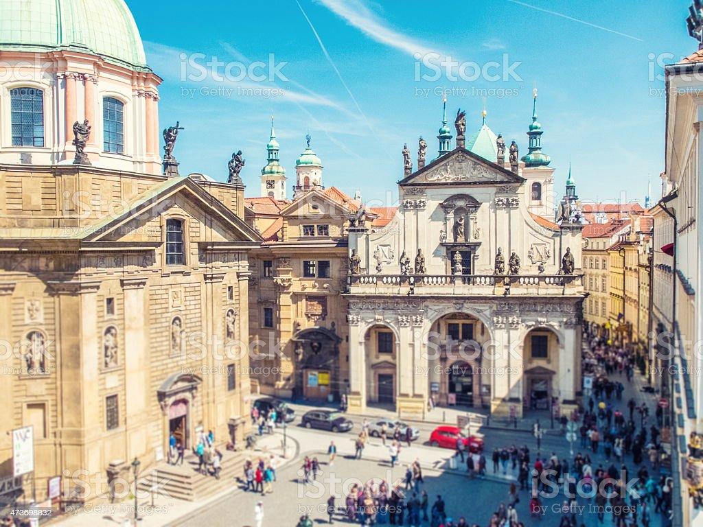 Klementinum at Prague stock photo