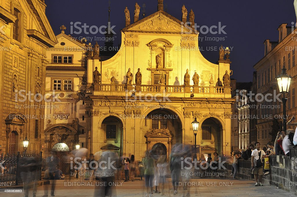 Klementinum in Prague stock photo