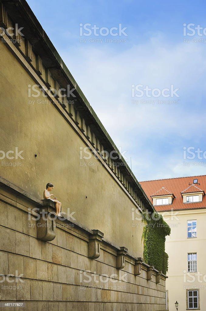 Klementinum Wall stock photo