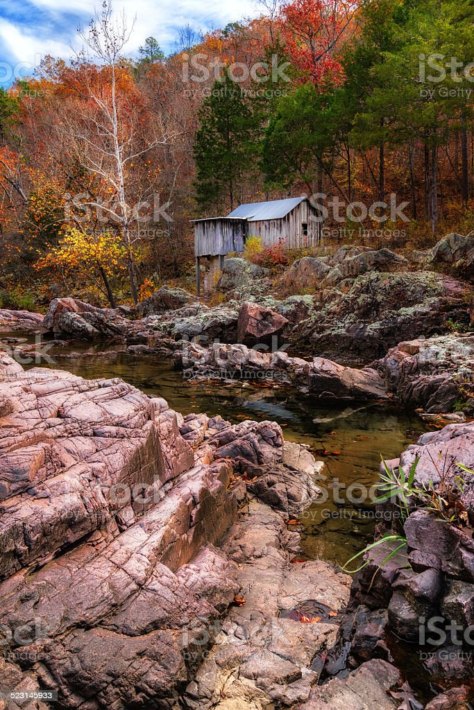 Klepzig Mill in the Autumn stock photo