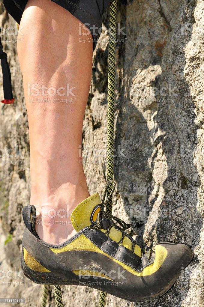 Klettern Detail stock photo