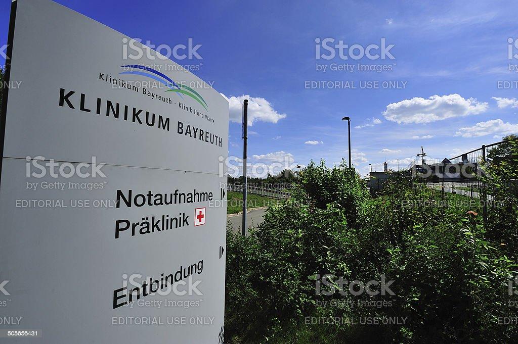 Klinikum Bayreuth stock photo