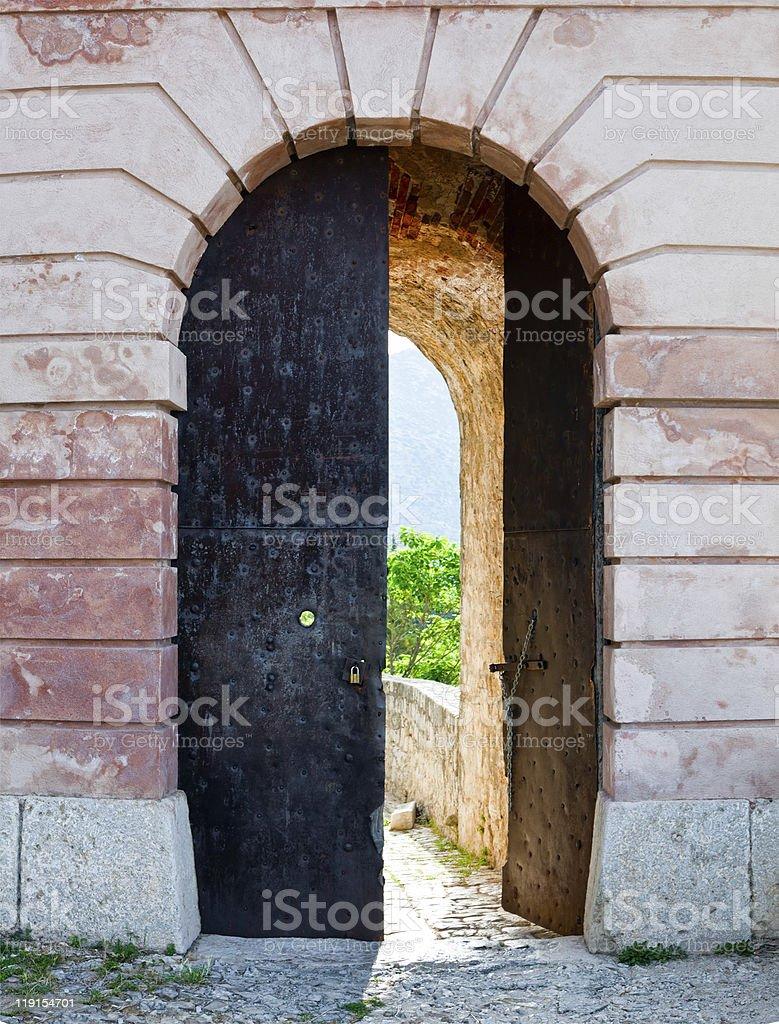 Klis - Medieval fortress in Croatia stock photo