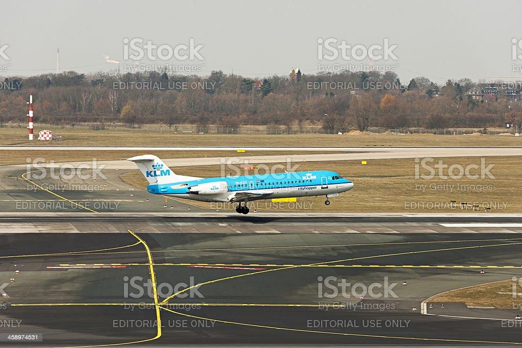 KLM-Cityhopper Fokker 70 PH-KZO royalty-free stock photo