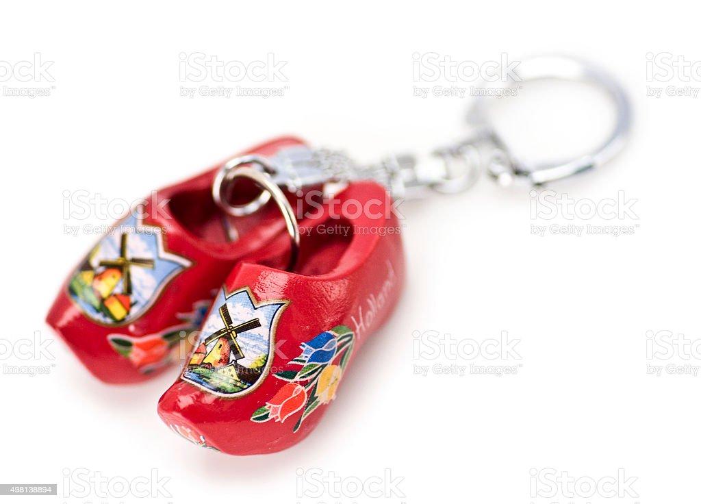 Klompen als Schlüsselanhänger stock photo