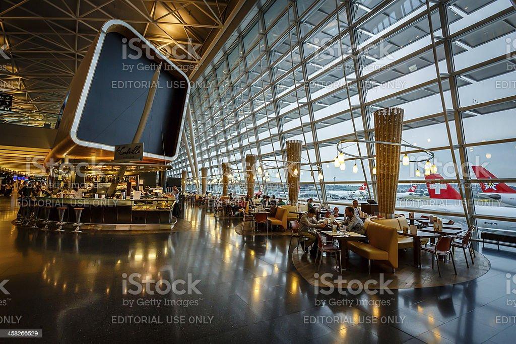 Kloten Airport Interior in Zurich, Switzerland royalty-free stock photo