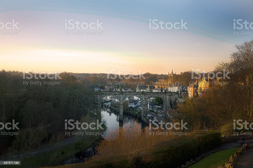 Knaresborough at Sunset stock photo