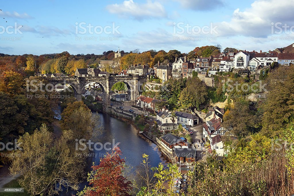 Knaresborough in autumn day, North Yorkshire, England stock photo