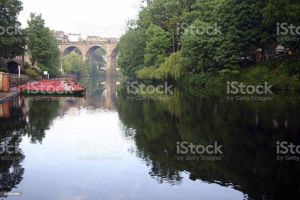 knaresborough, yorkshire, england river view royalty-free stock photo