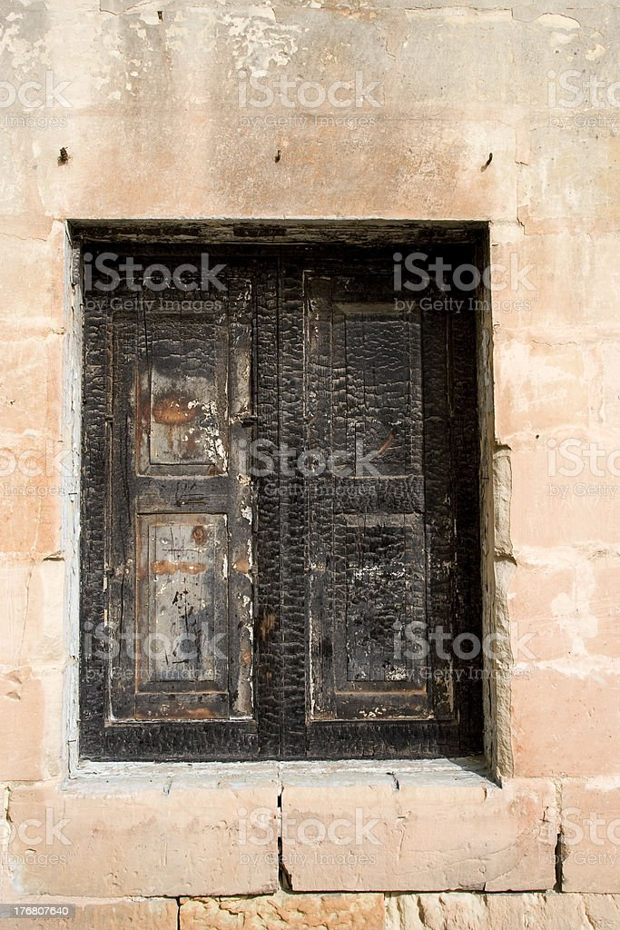 Knarly window stock photo