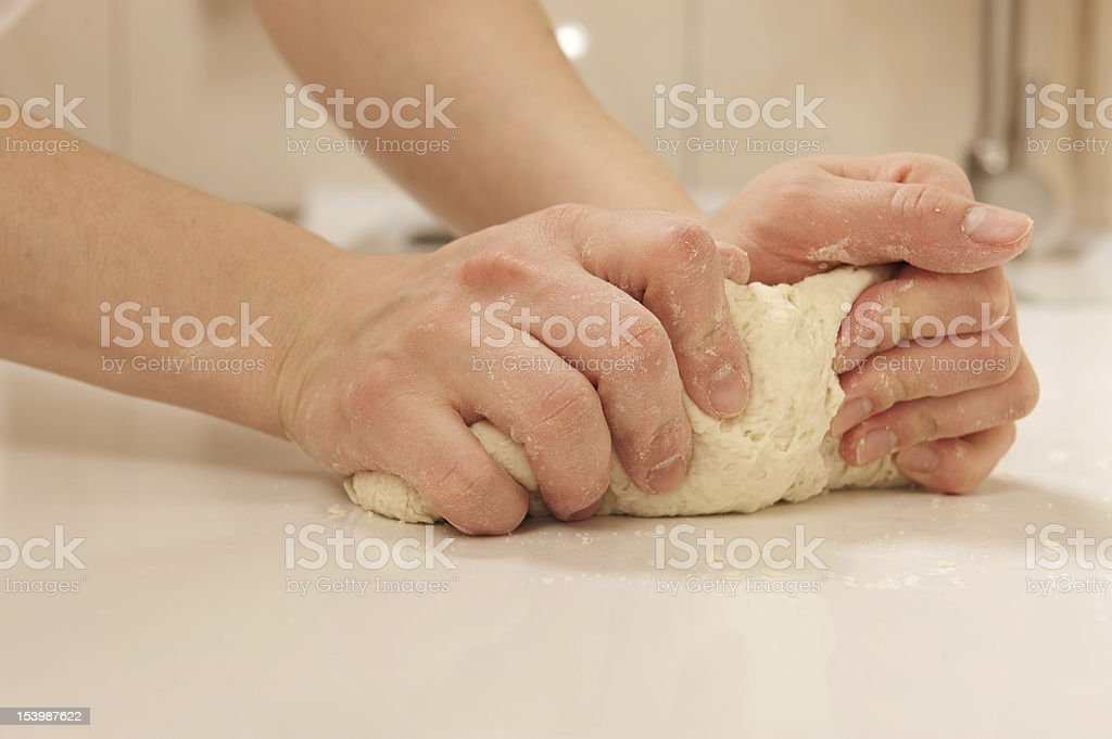 Knead dough royalty-free stock photo
