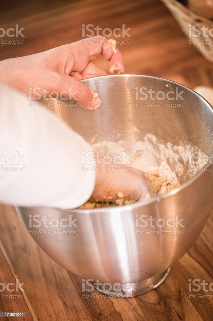 Kneading Dough royalty-free stock photo