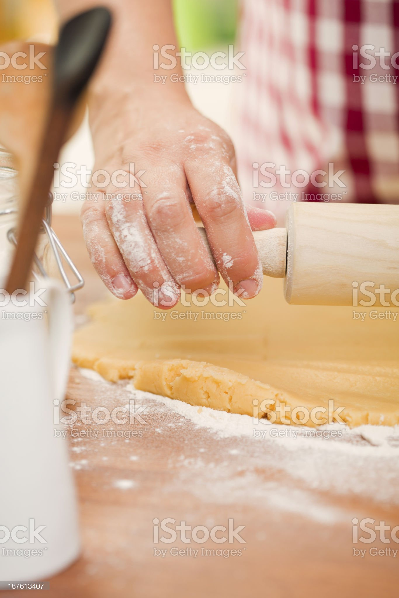 Kneading Dough royalty-free stock photo