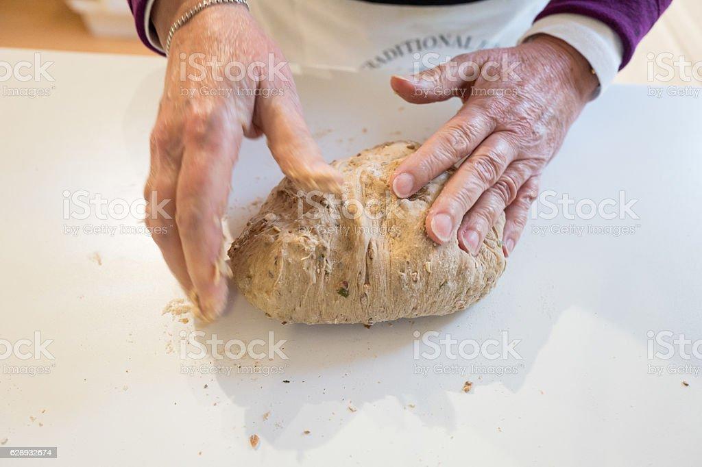 Kneading Dough. stock photo