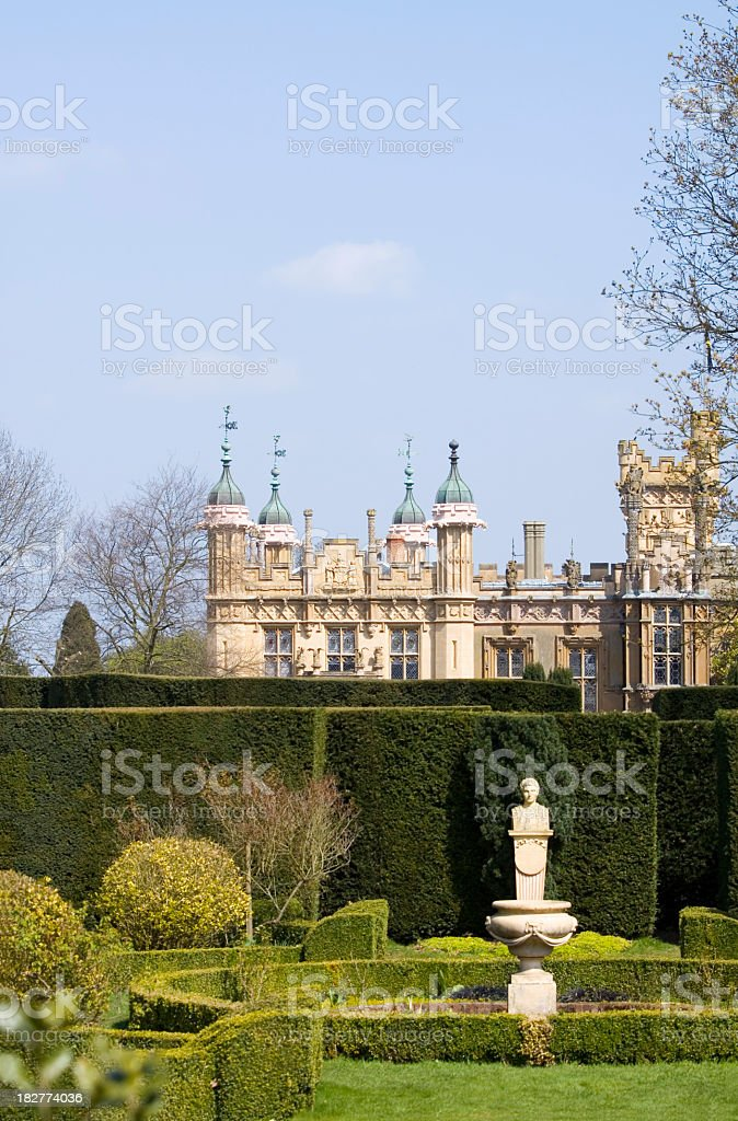 Knebworth House in Spring stock photo