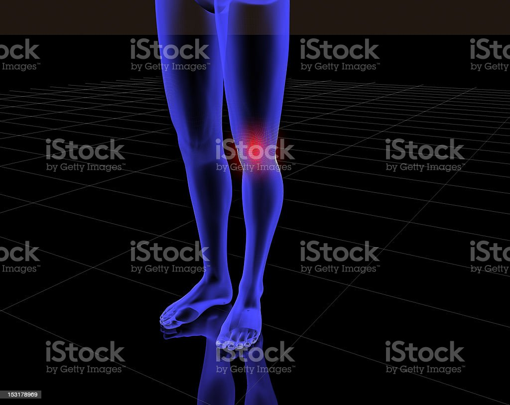 Knee and pain royalty-free stock photo