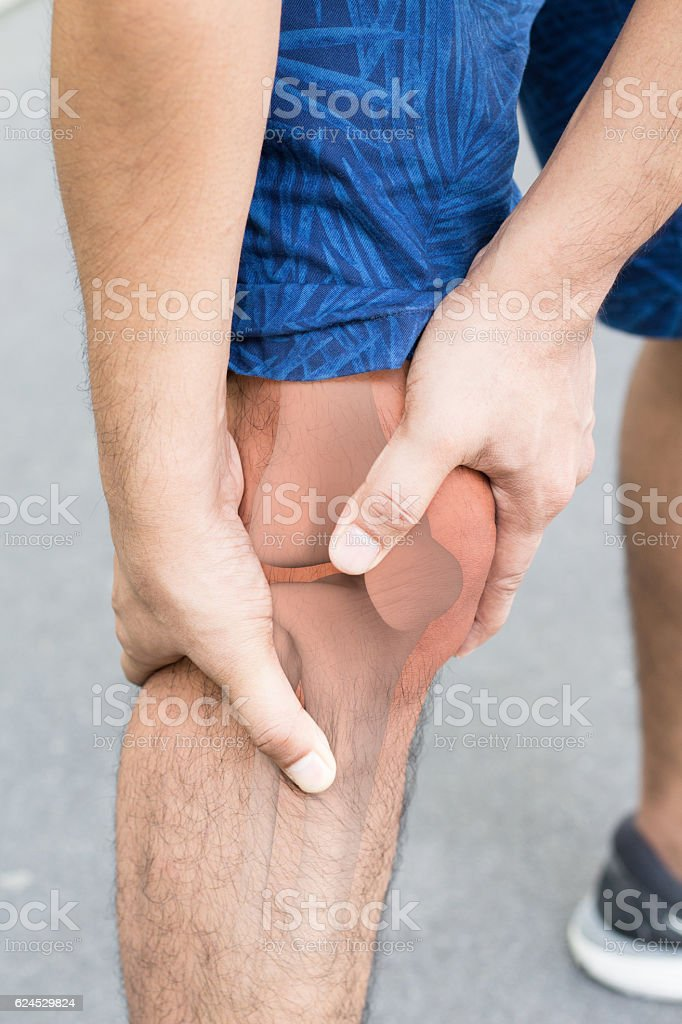 Knee bones pain stock photo