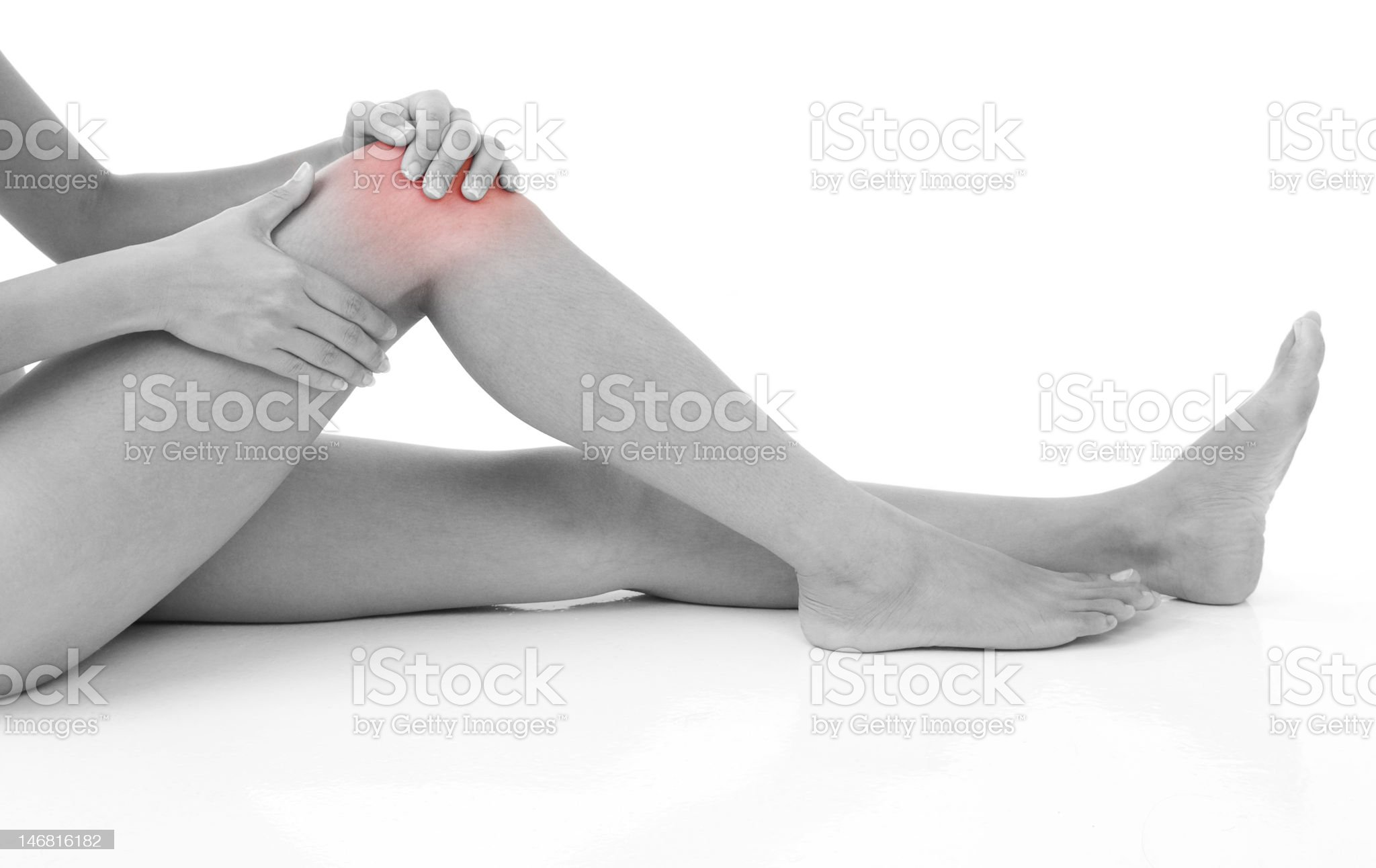 Knee Injury royalty-free stock photo
