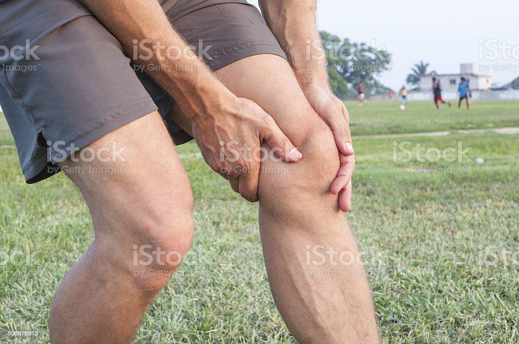 Knee injury stock photo