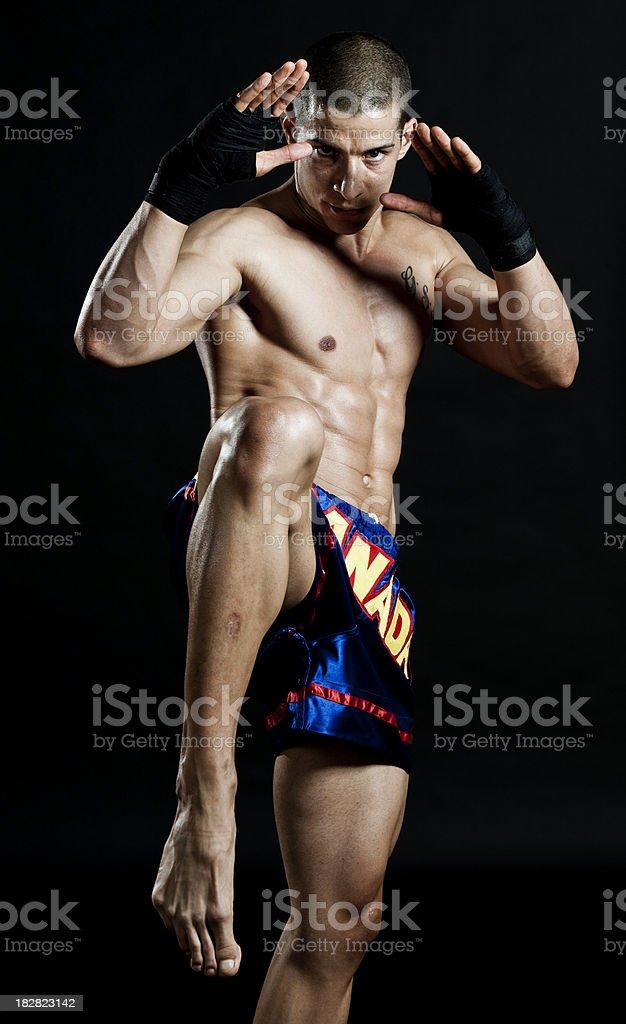 Knee kick, stock photo