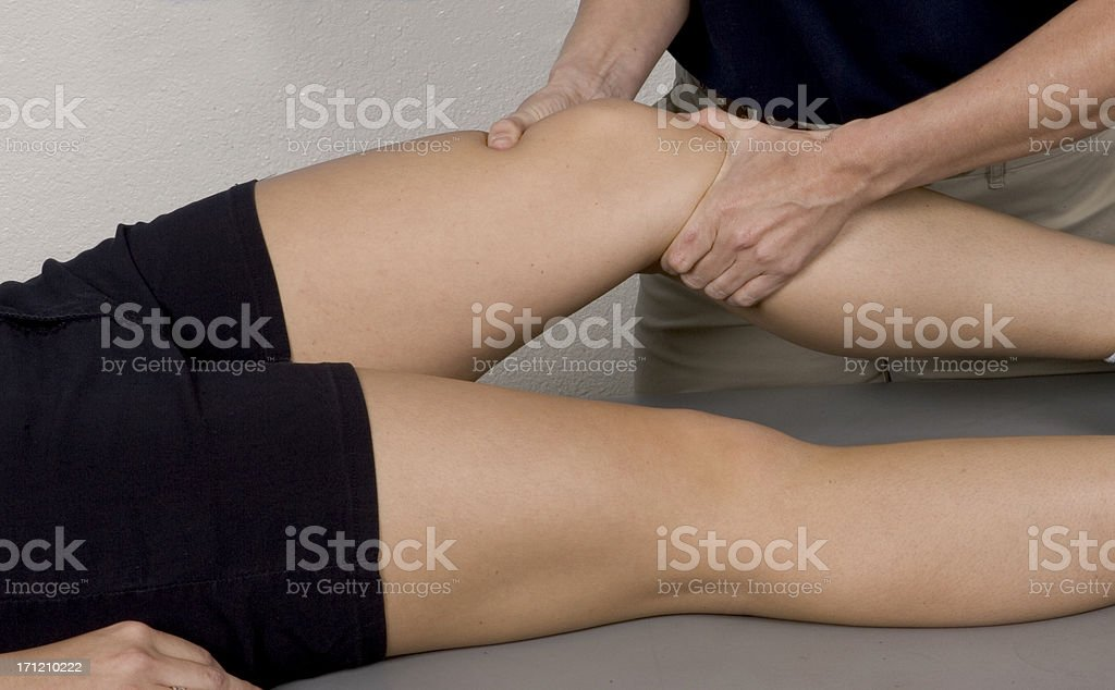 Knee Massage Therapy royalty-free stock photo