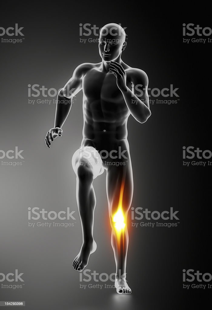 Knee Pain Injuries concept royalty-free stock photo