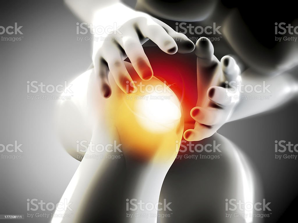 knee pain royalty-free stock photo