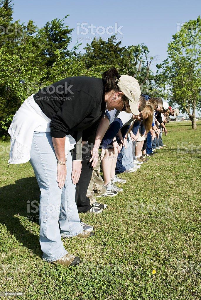 Knie Slap Line Lizenzfreies stock-foto