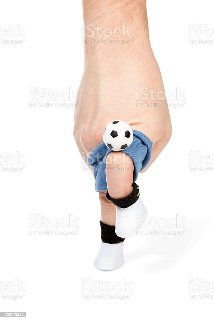 Knee strike on the ball stock photo