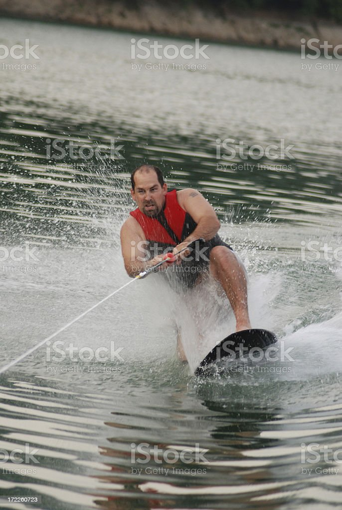 Kneeboard Wipeout stock photo
