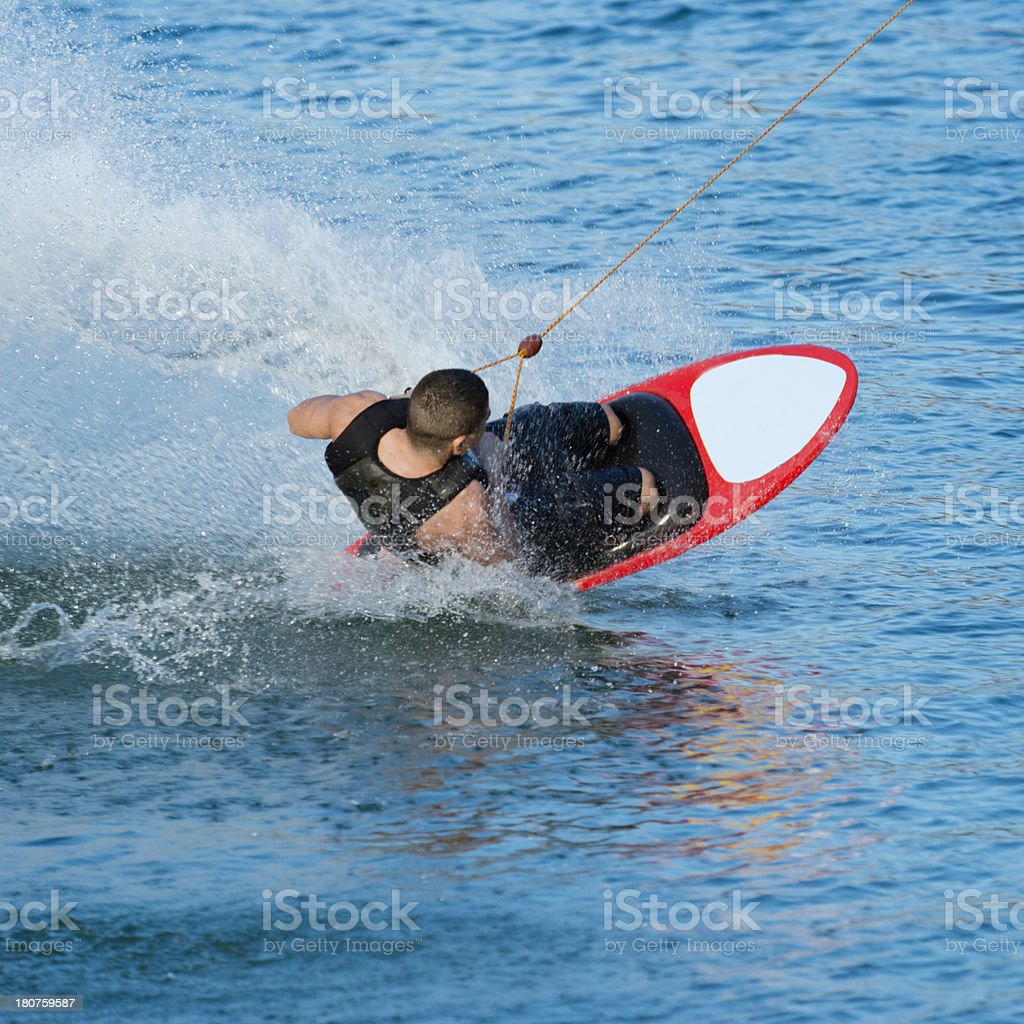 Kneeboarder at high speed royalty-free stock photo