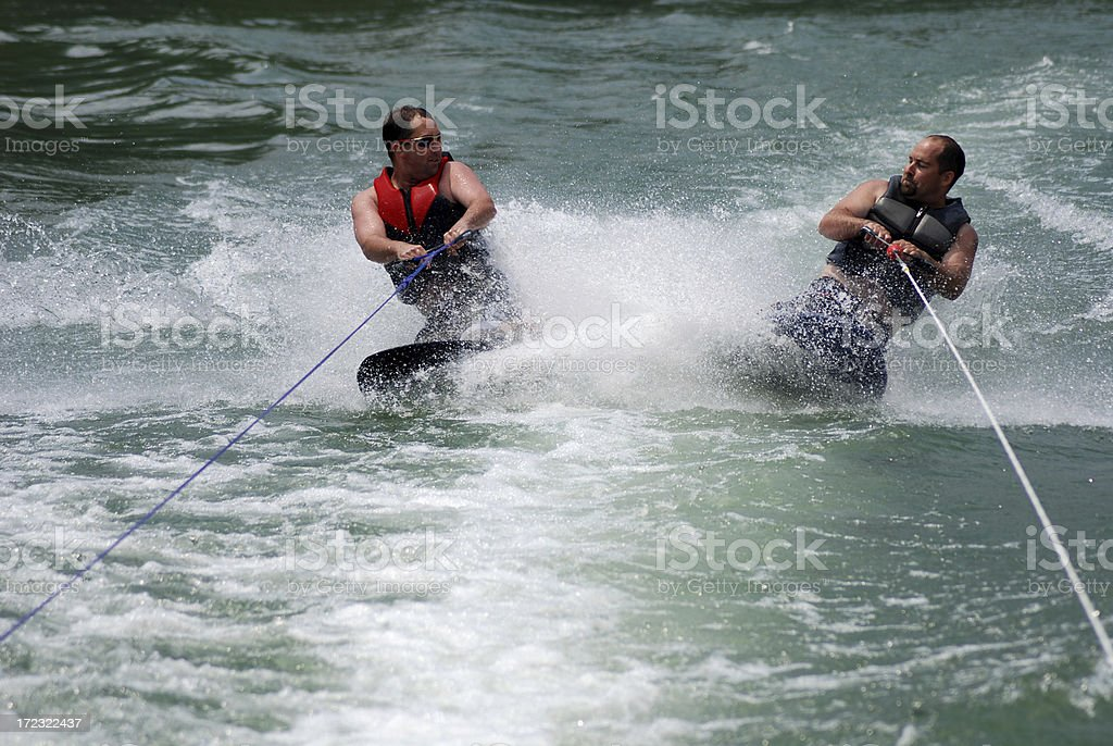 Kneeboarding Brothers royalty-free stock photo