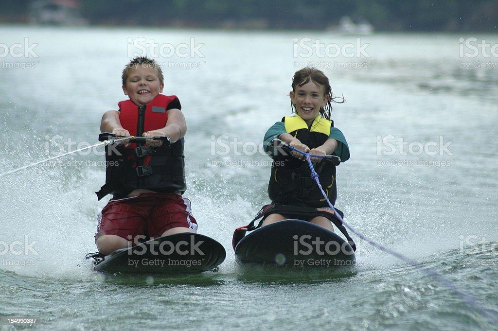 Kneeboarding Fun royalty-free stock photo