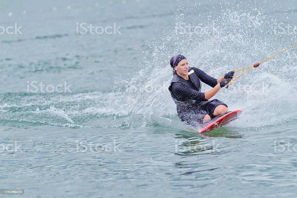 Kneeboarding royalty-free stock photo