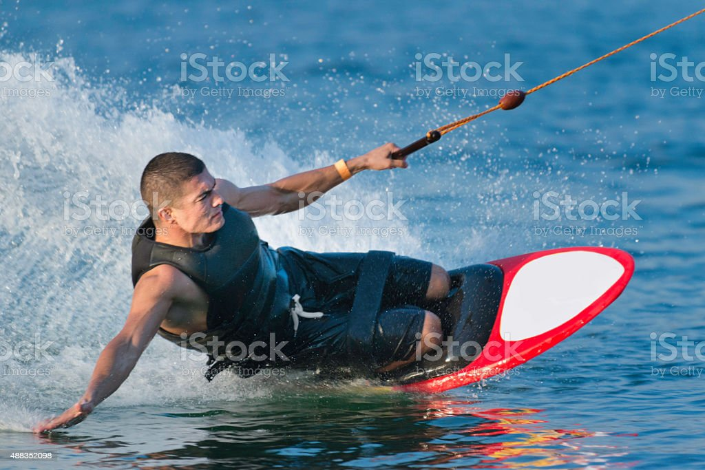 Kneeboarding stock photo