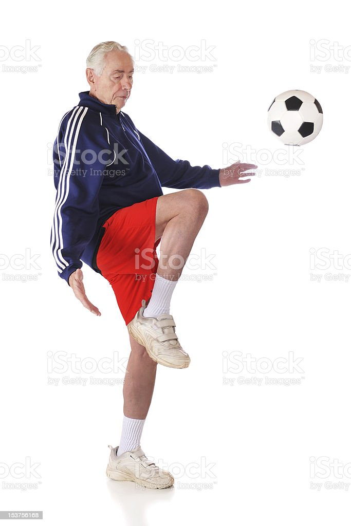Kneeing the Ball stock photo