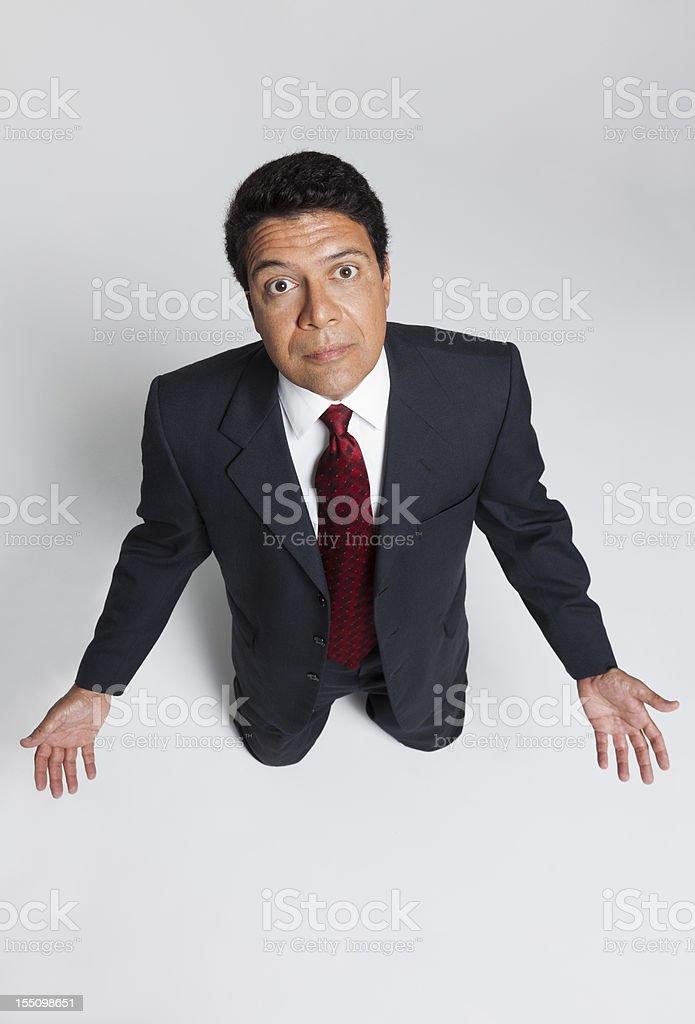 Kneeling Businessman royalty-free stock photo
