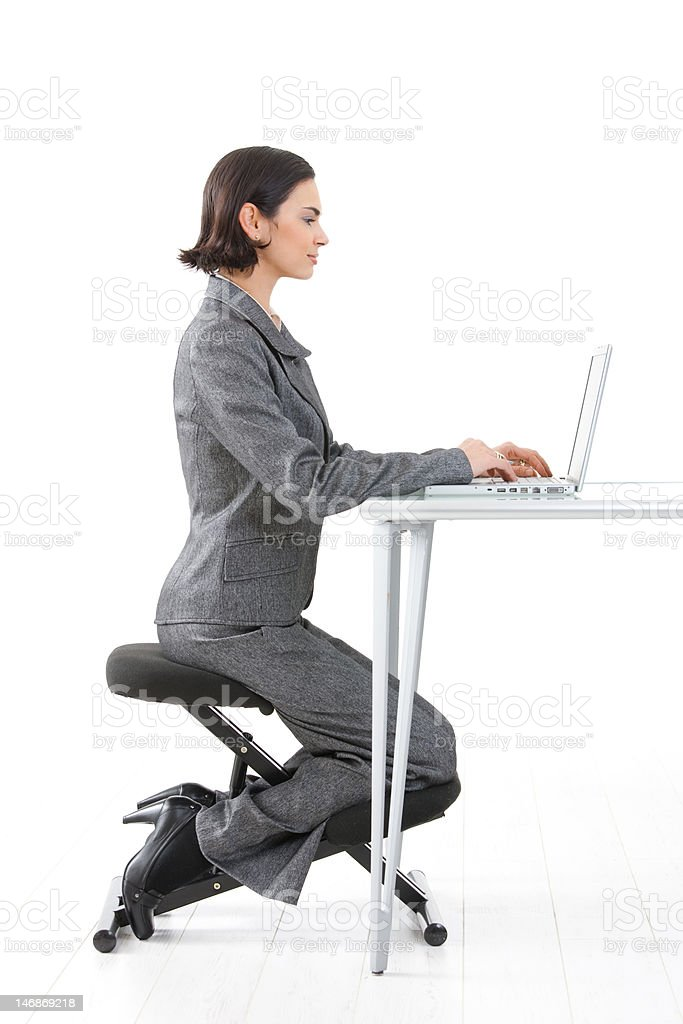 Kneeling chair royalty-free stock photo