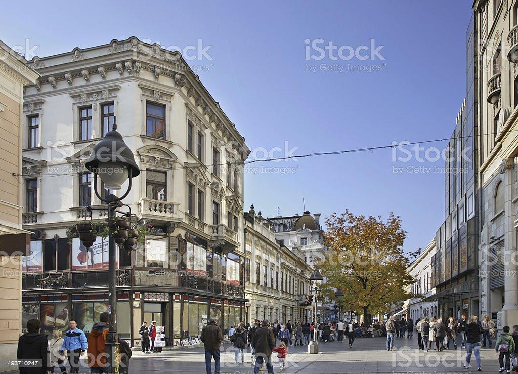 Knez Mihailova street in Belgrade. Serbia stock photo