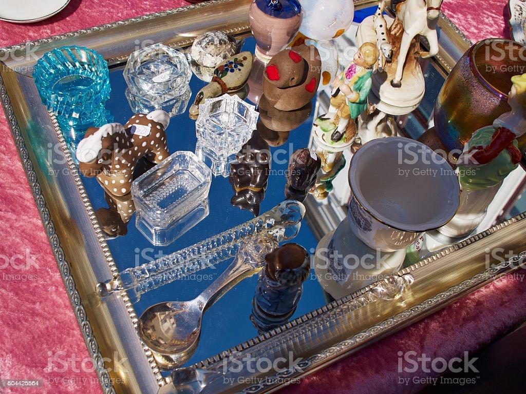 Knick Knack at a flea market stock photo