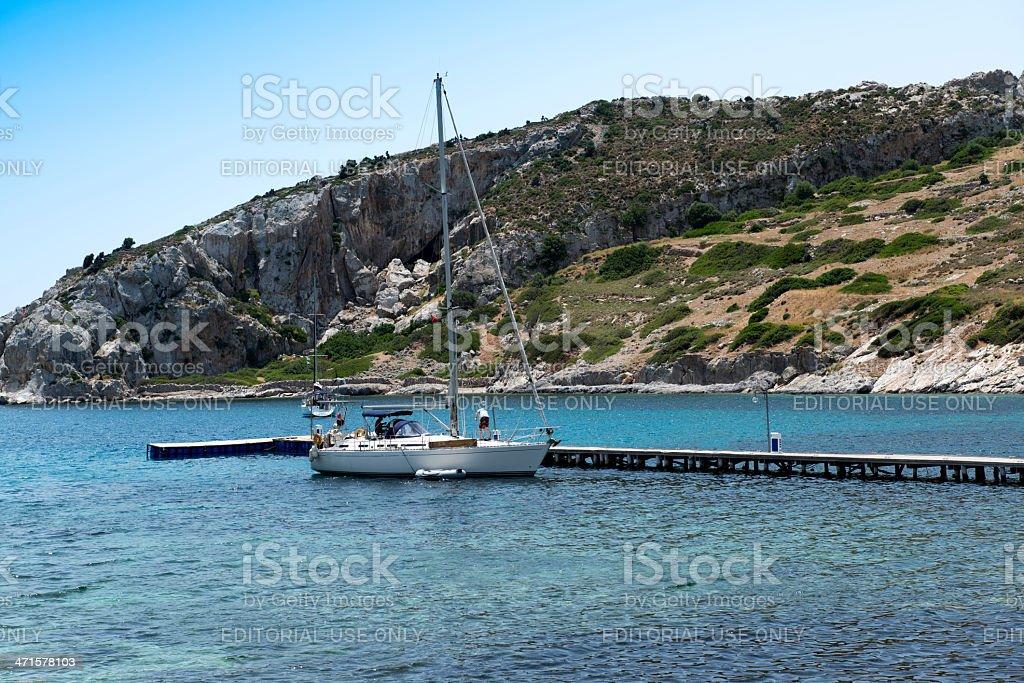 Knidos coast in Datca royalty-free stock photo